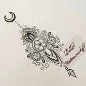 Customising a wrist tattoo 😊 – in progress – copyright ⚜  #ornamental #henn…   – Body
