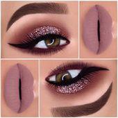 einfache Glitzer Augen MakeUp-Ideen #bestmakeupideas #EyeMakeupSummer