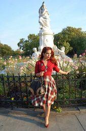 La jupe corolle pour une silhouette avec un halo – vintage modernisé – #with …   – Jupes