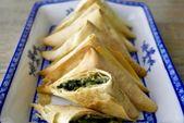 Mini griechische vegane Spinat-Lauch-Quinoa-Torten – Spankopita – breakfast