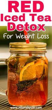 Red Iced Tea Detox Gewichtsverlust Rezept – Sauberes Essen – #Clean #Detox …   – Detox