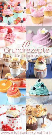 Die 10 besten Toppings für Cupcakes! Grundrezepte…