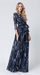 Frauen Kleid Kleid Lang A-Linie Stilvoll Strand Maxi Runder Halsausschnitt