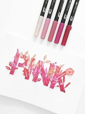 Tombowusa Jun 19 Colorful Pink Lettering Bouquet Https Ift Tt