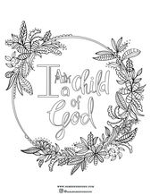 Free coloring page I am a child of God Christian coloring page vbs coloring p #c…