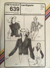 Stretch /& Sew 639 Sewing Pattern UNCUT Vintage