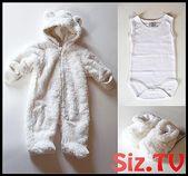 Baby Kleidung Sachen kaufen Geschlecht neutrale Farben weiß Wintermantel Socken Schuhe …   – Spielzeug selbstgemacht