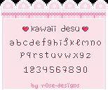 Kawaii Pixel Font Pixel Font Cute Fonts Fonts