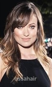 Olivia Wilde Long Wavy Layered Hair With Side Bangs For Square