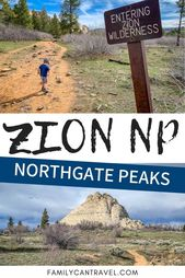 Hiking Northgate Peaks Trail with Kids in Zion National Park