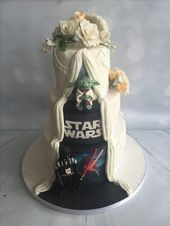 Star Wars, Yoda, Darth Vader wedding cake hidden panel