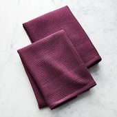 Waffle-Terry Grey Dish Towels, Set of 2 + Reviews | Crate and Barrel