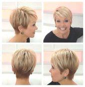 Kurze Frisuren für ältere Frauen 2018 – Kurze Frisuren für ältere Frauen mit dickem Haar #kurzefrisurenfrdickeshaar #ltere #dickem #Frauen