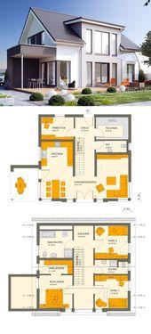 Einfamilienhaus modern mit Satteldach Architektur …