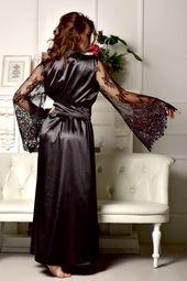 Svart spets brudklänning sexig klänning kimono klänning lång klänning lång brudklänning Maxi klänning svart spets klänning lång brudtärna klänning lång spets brudklänning