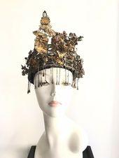 Antique Vintage  Queen Crown Tiara Headpiece Leaf Dragon design  #UnbrandedGeneric #Tiara