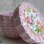 Basket of newspapers braid instruction  #basket #braid #instruction #newspapers … – Korb und Kiste