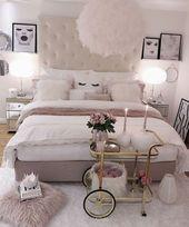 40 + Cosy Home Decorating Ideas für Mädchen Schl…