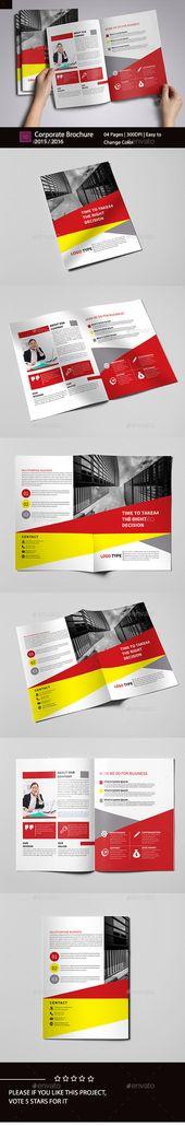 Bi-Fold Brochure Design Template – Brochures Print Template InDesign INDD. Download here: graphicriver.net/…