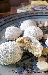 Galletas de bola de nieve de macadamia y chocolate blanco   – Backen