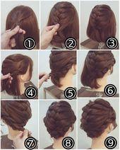 einfache kurze Haare Zöpfe – Frisuren