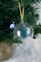 Photo of Weihnachtsbaumkugel – Schneebaumbaumkugel, handgemachte schöne Kugel, niedliche Weihnachtsdekoration, Winter