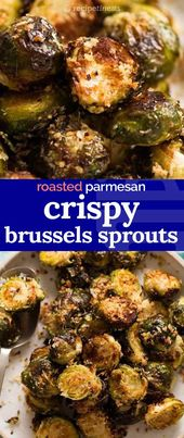 CRISPY Parmesan Roasted Brussels Sprouts (addictive!)   – Recipes to Cook