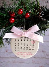 baby's first christmas ornament Baby ornament by rachelwalter – Weihnachten