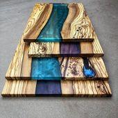 """Wood💧 Epoxy 💧 DIY auf Instagram: """"Tolle Farben auf diesen Boards von @ … – Tisch"""