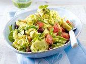 Tortellini salad with pesto and tomatoes – #pesto #salat #tomatoes #tortellini – #A …