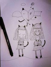 Die Zeichnung meines Freundes. Bist du auch ein versteckter Teufel?