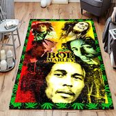Bob Marley Smoking Weed Pattern Jamaican Reggae Musician Area Rug – stuff :)