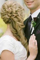 Picture result for bridal hair half open