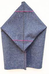 Pochette boutonnée de forme sac à lunch – tutoriel ♥ #epinglercpartager