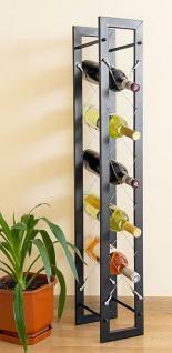 Weinregal Natura 100cm aus Metall Flaschenständer Wandregal Flaschenhalter