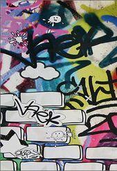 cool, graffiti wallpaper!   – For kids.