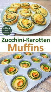 Zucchini Karotten Muffins low carb