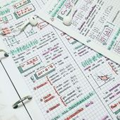 10 Beautiful Pictures of Class Notes that are Serious Study Goals