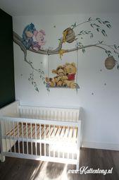 Wandmalerei: Baby Pooh und Freunde. Hergestellt von Kattentong Decoratiewerken   – Baby kinderzimmer