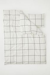 Photo of Checked Duvet Cover Set