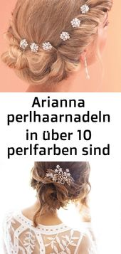 Arianna pearl hairpins in over 10 pearl colors are perfect for … – high-set hair – hairstyles –