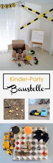 5 kreative Spielideen für den Baustellen-Kindergeburtstag