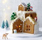 Ginger & fruit mountain cake