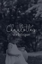 Diseño del logotipo de Charlotte's Webtique. Diseño de la marca. Insp. Delicada, femenina, mínima …   – Logos