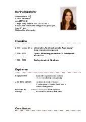 Curriculum Vitae 3eme Modelo De Curriculum Vitae In 2020