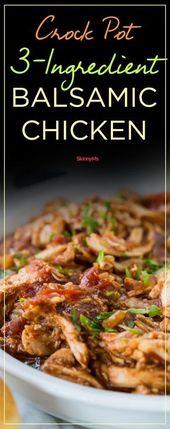 Crock Pot 3-Ingredient Balsamic Chicken