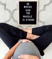 The Best Pregnancy Letter Boards
