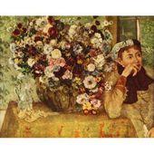 Arte de la lona Mujer con crisantemos 1863 – Edgar Degas (18 x 24) – Walmart.com   – degas