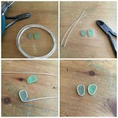 Art Jewelry Elements: Soldered Sea Glass Earrings #elements #gelotete #jewelry # …, #Art #di …
