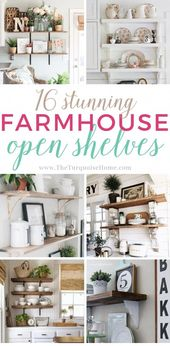 Wunderschöne Bauernhaus Open Shelving-Ideen